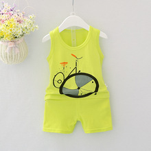 2019 new summer baby girls and boys clothes quality cotton kids bodysuit sleeveless children clothing sets cartoon body vest