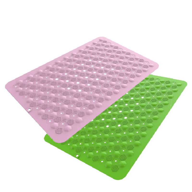 60*41.5cm Silicone Bathroom Carpet Suction Anti Slip Bath Mat Hotel Bathroom Rug Shower Bathmat Floor Mats Home Tapis De Bain