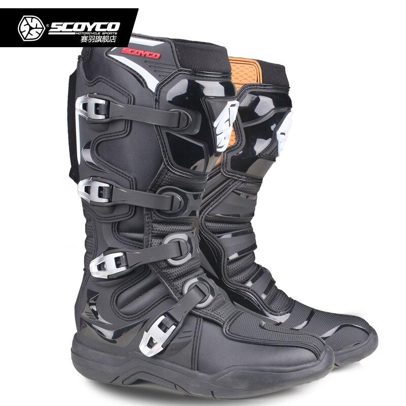 SCOYCO MBM003 Motorrad Motocross ATV Stiefel Off-road Racing Männer Schuhe Moto Motorrad Lange kniehohe top sicherheit CE