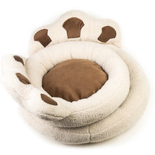 XINAN New footprints soft dog bed warm pet house soft fabric pet nest cute fashion dog cat doghouse simple and convenient G-17