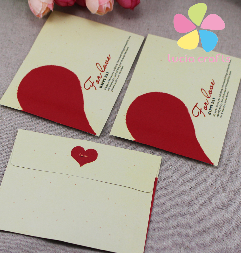 Sale lucia crafts 1075cm mixed 4 types love greeting card little lucia crafts 1075cm mixed 4 types love greeting card little envelope 12pcslot 049007013 in craft paper from home garden on aliexpress alibaba m4hsunfo