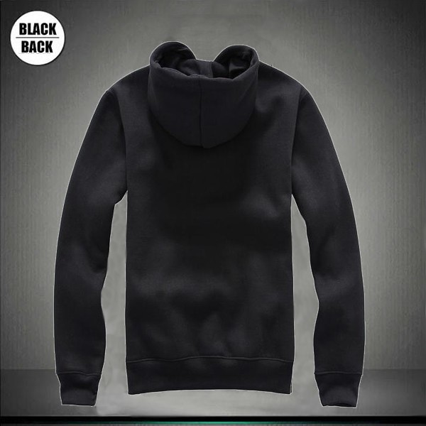 Hoodies Template Black Back