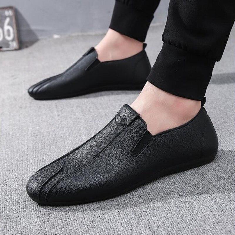 Hombre Planos Moda Transpirables Nueva 2019 De red Rebaño Black Otoño Los Casuales Mocasines Hombr Suave white Hombres Primavera Zapatos f7qB6w