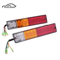 1 Pair 12V 24V 20LED Car Auto Stop Rear Tail Light Brake Reverse Light Turn Indiactor