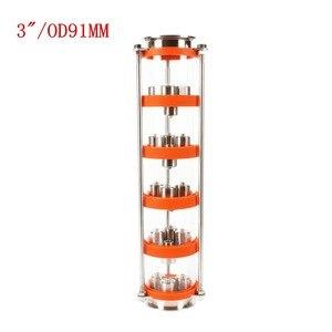 Image 2 - Colonne de Distillation à bulles dacier inoxydable/cuivre 304 avec 5 sections pour la distillation. Colonne de verre