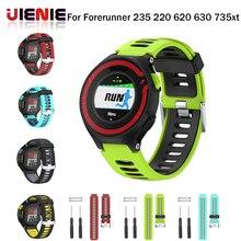 лучшая цена UIENIE New Replacement Silicone Watch Band Outdoor Sport Watchstrap for Garmin Forerunner 735XT/220/230/235/620/630 @JH