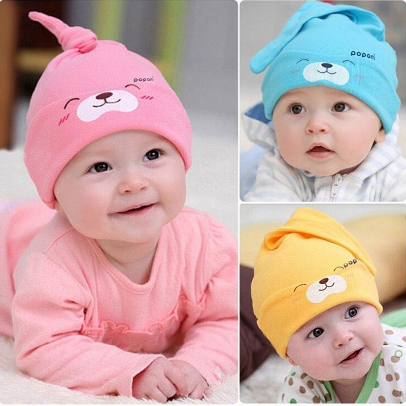 Cute Winter Autumn Cartoon Baby Hat Caps Baby Beanie,Girls Boys Toddlers Cotton Sleep Cap,Headwear Newborn Hats