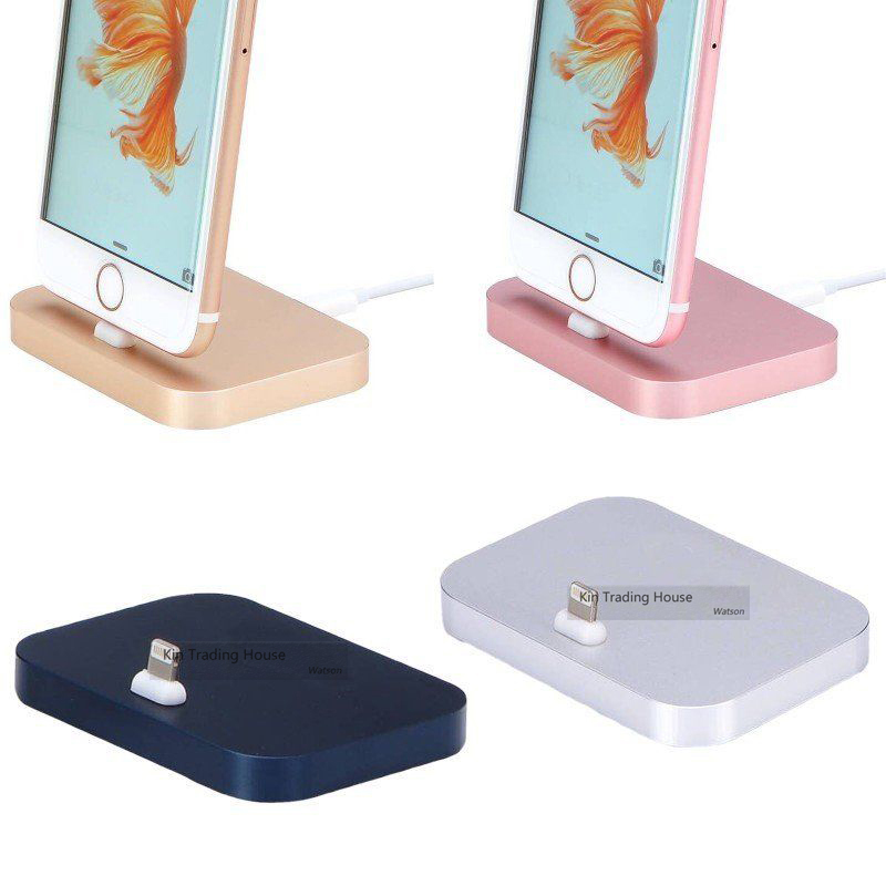USB Charging Dock for iPhone 5s Aluminum Pad for Lighting Sync Data Cable Dock Station for