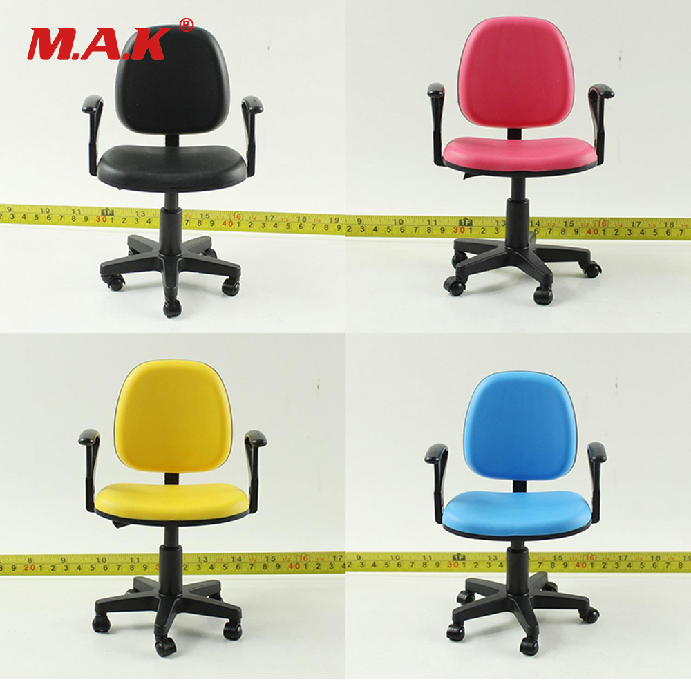 1/6 Scale Action Figure Office Sence Accessories Computer Chair Model Swivel Chair Black/Blue/Pink/Yellow Colors повседневные брюки ecko 10deep black scale pink dolphin