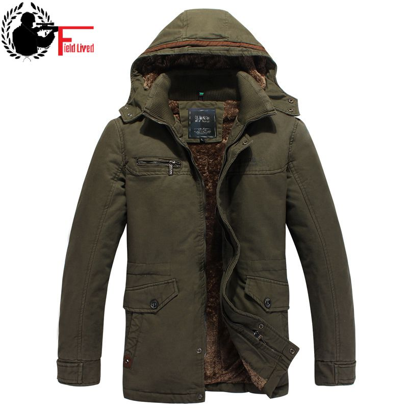Winter Jacket Men 2019 Coat Long Military Hooded Parka Male Fleece Warm Autumn Thick Casual Army Overcoat Jacket Outerwear Green