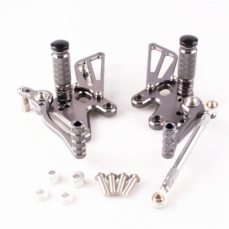 CNC Aluminum Adjustable Rearset Foot Pegs For Kawasaki Ninja 250R 2008-2012 2009 2010 2011CNC Aluminum Adjustable Rearset Foot Pegs For Kawasaki Ninja 250R 2008-2012 2009 2010 2011