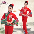 Chineses trajes de dança Trajes de Dança Yangko Tambor Tradicional chinês Velho Ventilador Tambor Da Cintura Dança Chinesa Dança Folclórica