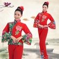 chinese dance costumes Drum Yangko Dance Costumes Traditional Old chinese Fan Dance Waist Drum Chinese Folk Dance