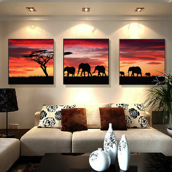 Animal elephant icons Diamond embroidery 5D diamond cross stitch square diamond decorative diy diamond painting christmas gift