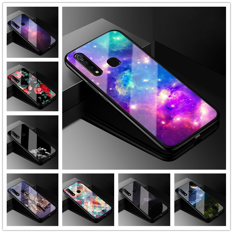 For vivo Z1 pro Case Tempered Galss Hard Back Cover Phone Case For vivo Z1 pro Case vivoz1PRO Z 1 Pro 6.53'' Coque z1pro cases