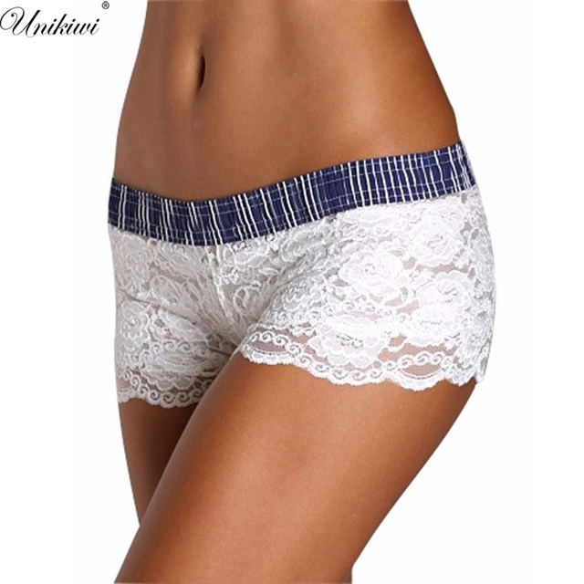 6a786f04b7f5 Women's Sexy Lace Briefs Boyshort.Low Rise White Lace Soft Panties.Ladies  Intimates Lingerie Underwear Safety Shorts.XXL size