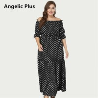 2018 Plus Size Max Long Summer Dress Women Lady's Party Wedding High Quality Elegant Off Shoulder Sexy Casual Dress for Girl
