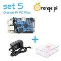 Orange Pi PC Plus SET5: Orange Pi PC Plus + Прозрачный ABS Корпус + Блок Питания За Raspberry Pi