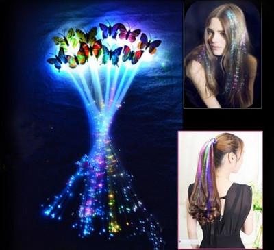 Led verlichting in je haar - Maakt aparte lichtgevende vlechten of staartjes - 4 stuks
