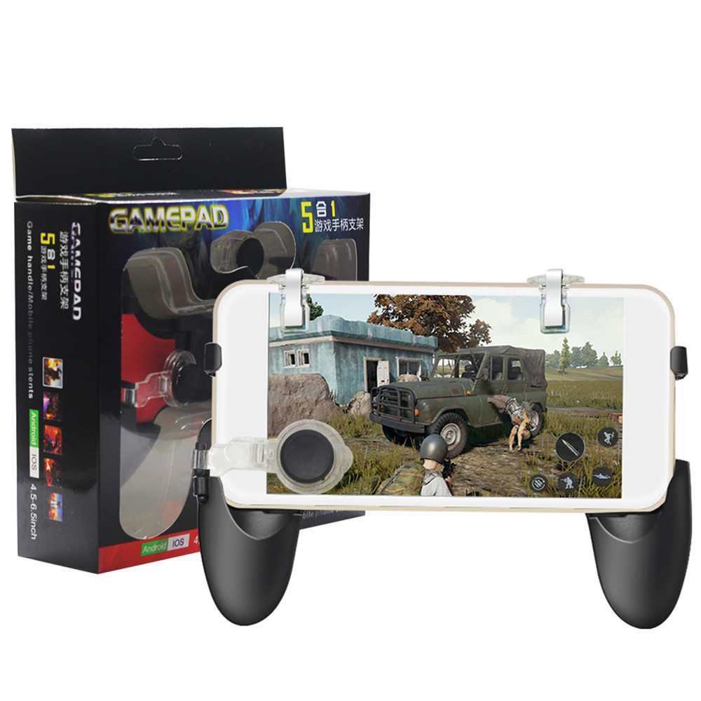 5 in 1 Gamepad Kit Game Handle Moving Joystick and Fire Trigger Mobile Phone PUBG Gaming Controller Gamepads for iphone Android