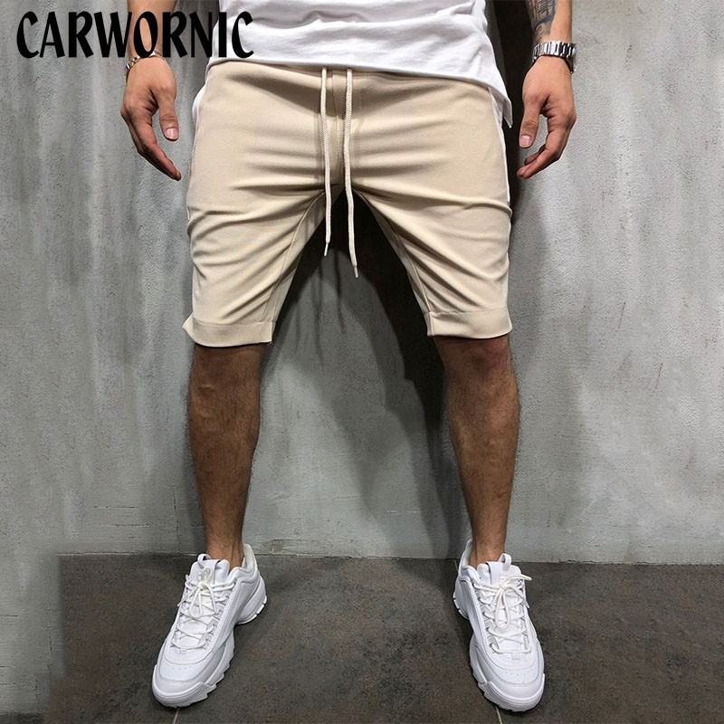 CARWORNIC Loose Cargo Fitness Gyms Shorts Men Cool Breathable Summer Short Pants Hot Sale Casual Fashion Shorts Streetwear Male