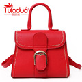 TULADUO Brand 2017 Fashion 5 Color Women Crossbody Bags High Quality PU Leather Saffiano Famous Designer Thread Ladies Handbags