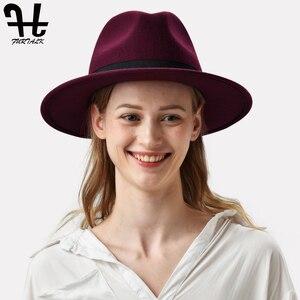 Image 4 - FURTALK النساء الرجال فيدورا قبعة 100% الاسترالي الصوف قبعة صغيرة فيدورا من اللباد واسعة حافة خمر الجاز قبعة فاتحة فام الخريف الشتاء قبعة