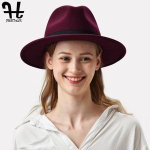 Image 4 - Furtalk 女性男性の fedora 帽子 100% オーストラリアウール fedora の帽子フェルトワイドつばヴィンテージジャズ帽子ファム秋冬キャップ
