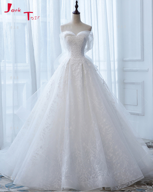 Jark Tozr Hot Sell Off The Shoulder White Bridal Gowns Vestidos De ...