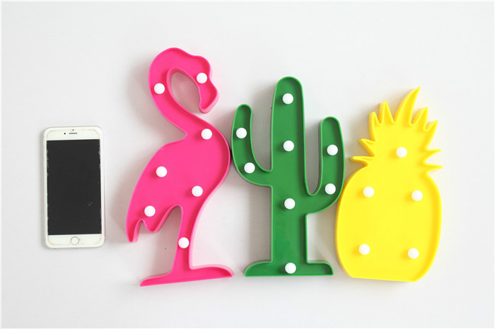 Светодиодный фея света Новинка 3D лампа Фламинго Cactus Star ночник Ангел дерево для Детский подарок внутренней отделки