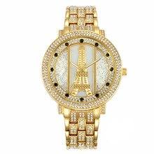 Torre Eiffel de Cuarzo de Moda Reloj Mujer montre femme Vestido NOBDA Marca de Lujo Impermeable Reloj Pulsera Brazalete de Oro marca de lujo