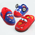 Fashion brand design winter boys girls warm cartoon car sandals children 's home pantofole indoor slippers kids footwear 16N1103