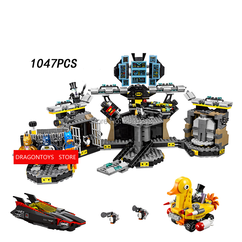 2017 hot compatible LegoINGlys Batman movie Bat hole raid modle Building Blocks Marvel Super hero Robin figures brick toys gift compatible legoinglys marvel super hero avengers turret moc building blocks mini captain america spider man figures brick toys