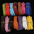 Hot Selling 5meter/lot 7mm Flat Braided PU Leather Cord Rope String for DIY Jewelry Necklace Bracelet
