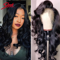 Sleek Brazilian Remy 13x4 Lace Front Human Hair Wigs 8 28 Inches Loose Wave Human Hair Wigs Pre Plucked Hairline With Baby Hair