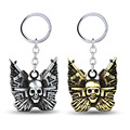2016 New Arrive 2 colors The Expendables keychain Skull Pendant Key chain Movie Keyring key chain Jewelry