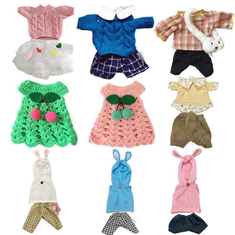30cm Doll Clothes For Rabbit/Cat/Bear Plush Toys Soft Suit Sweater Clothes Accessories For 1/6 BJD Dolls Baby Girls Gifts