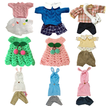 Plush Doll Clothes for Bunny Rabbit Plush Toys Soft Dress Suit Sweater Clothes Accessories for 1/6 Dolls Baby Girls Kids Toy original 1 6 doll accessories doll clothes genuine dress for monster inc high dolls girls gift kids doll