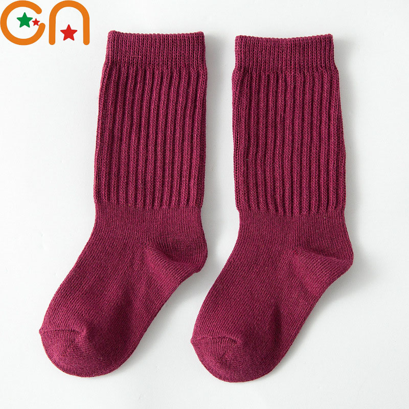 3 Pairs/Lot 1-10Y Boys Girls Fashion Cotton Socks Baby Cute Keep Warm Children Solid Sports Socks New Year Kids Clothing CN