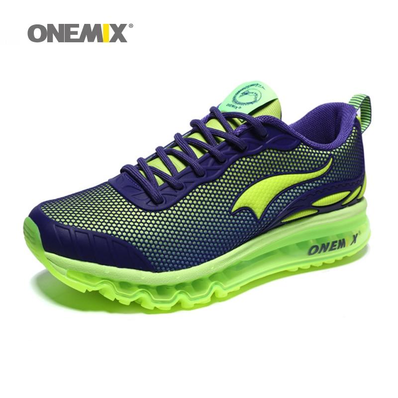 ONEMIX homme chaussures de course taille Max 12 belles tendances courir maille respirant hommes Jogging chaussure Sport pour extérieur marche baskets coussin - 4