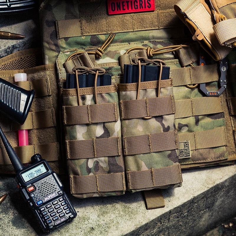 Onetigris tático molle duplo aberto superior mag bolsa m4/m16 magazine bolsa airsoft militar paintball engrenagem