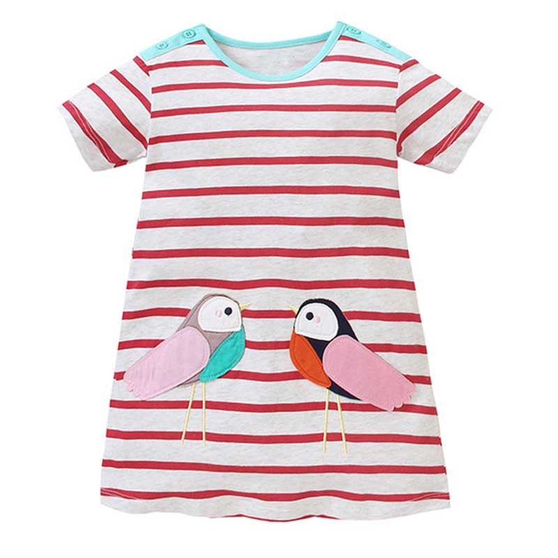 Baby-Girl-Dress-with-Animals-Applique-2017-Summer-Princess-Dress-Kids-Clothes-100-Cotton-Children-Christmas-Dresses-for-Girls-2