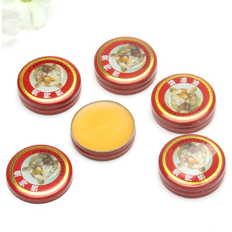 5 PCS Chinese Goods Tiger Balm Plaster Ointment Creams Balsamo Tiger Oils For Mosquito Elimination Headache Cold Dizziness