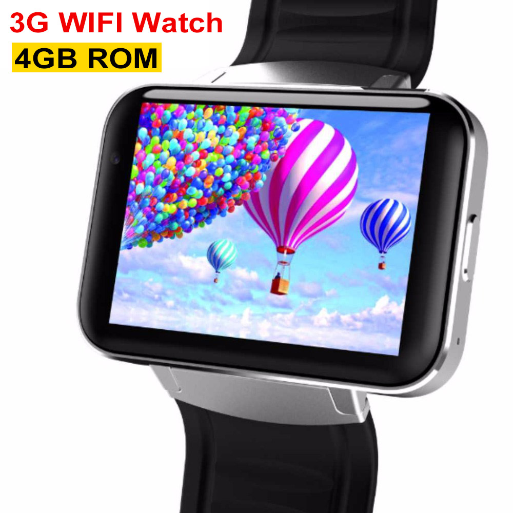 3G Smart Watch DM98 Bluetooth MTK6572 2.2Inch IPS HD 900mAh Battery 4GB Rom SIM Android OS Phone Watch WCDMA GPS WIFI Smartwatch цена