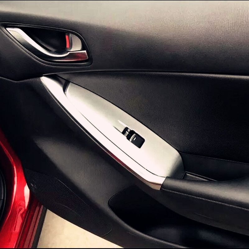 Beautost Chrome Door Handle Cover Trims Fit For Mazda CX-5 2015 2016 2017 2018 2019 With 2 Smart Keyhole