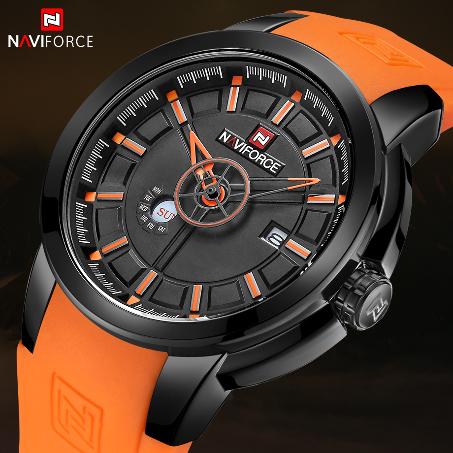 NAVIFORCE Quartz Watch Silicone Waterproof Shockproof Sport