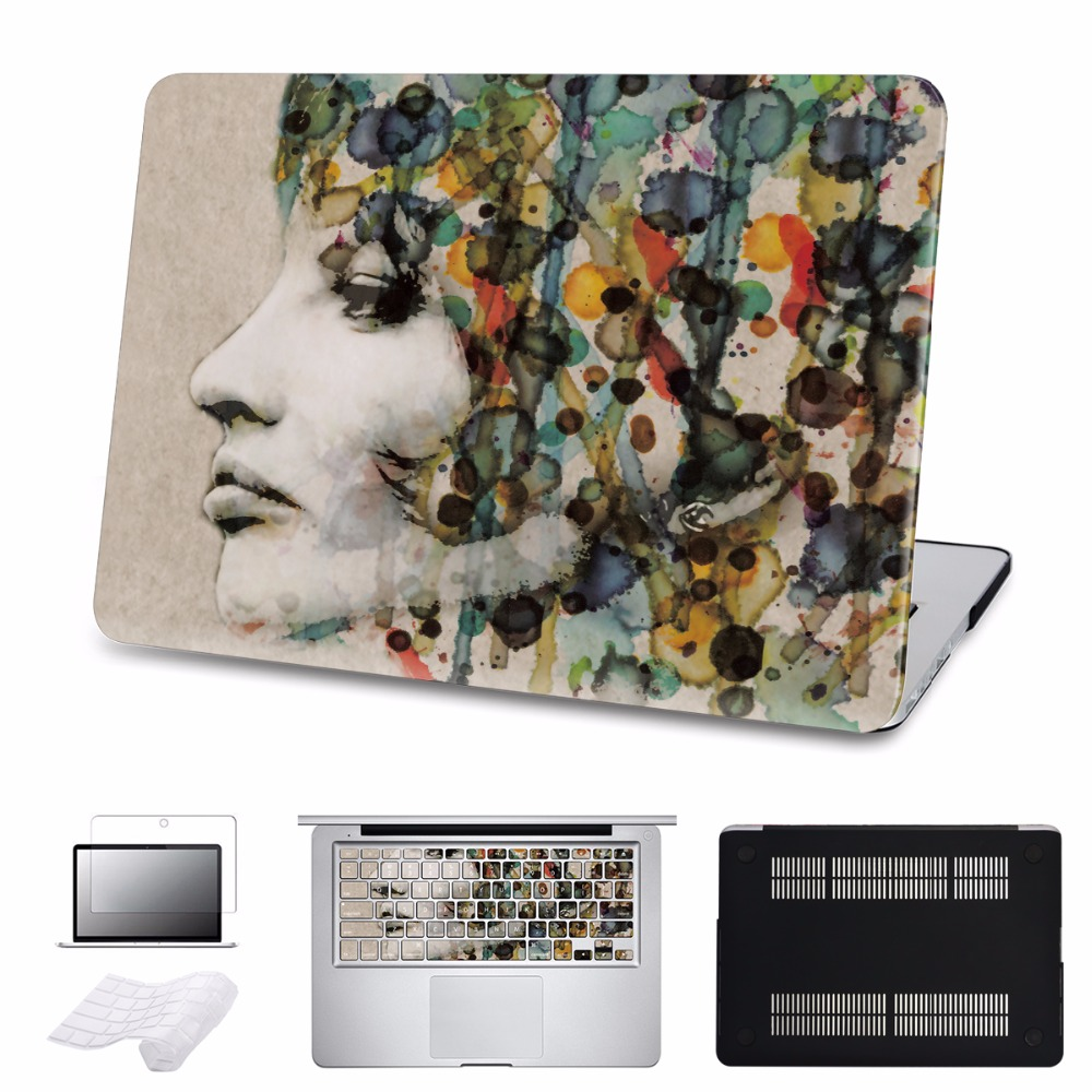 For Macbook Air Pro Retina 11 12 13 15 Case A1278 A1369 Abstract Portrait New 2016 Touch Bar Cases Sleeve Laptop Accessories