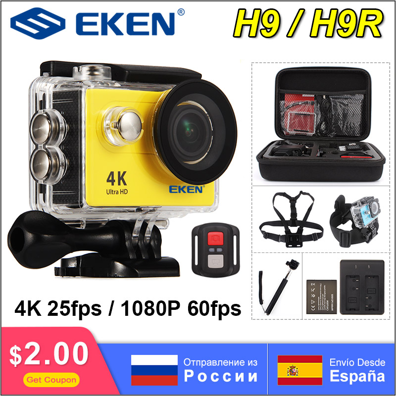 In stock ! EKEN H9R H9 Ultra HD 4K Action Camera 30m Waterproof 1080p Video Recording Sport Camera 2.0' Screen Helmet Cam(China)