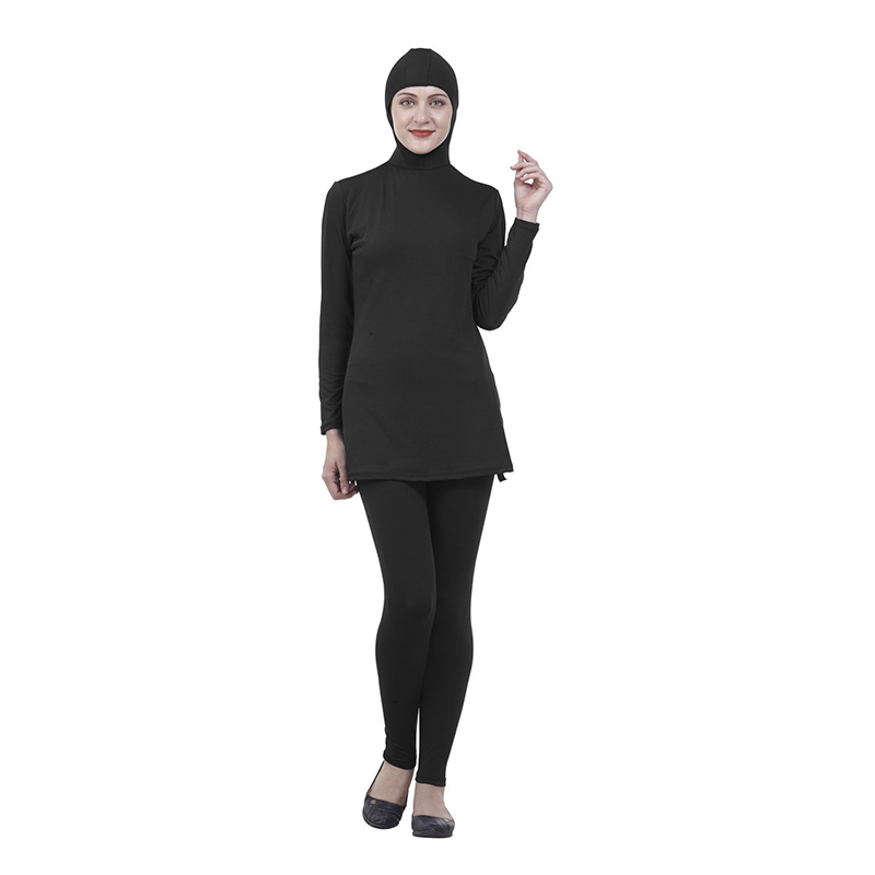 2019 New Islamic Swimsuits Female Conservative Plus Size Swimwear Muslim Sunscreen Bathing Suit Include Hood And Tops And Pants