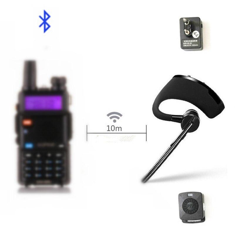 מכשיר קשר Bluetooth PTT אפרכסת Handfree אלחוטי אוזניות אוזניות מיקרופון עבור BaoFeng UV 82 UV 5R BF 888S TYT שתי דרך רדיוווקי טוקי   -